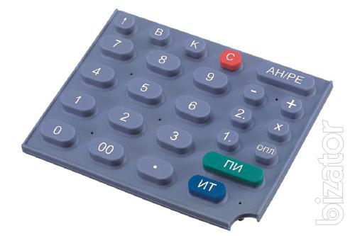 Изготовление резиновых (силиконовых) клавиатур и панелей для приборов