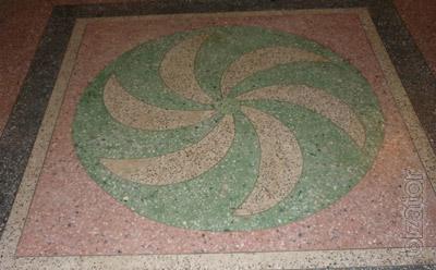 Мозаичные полы из мраморной и гранитной крошки