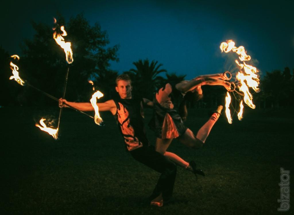 Дуэт. Огненное и световое шоу.