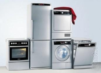 Repair of washing machines,refrigerators,electric stoves