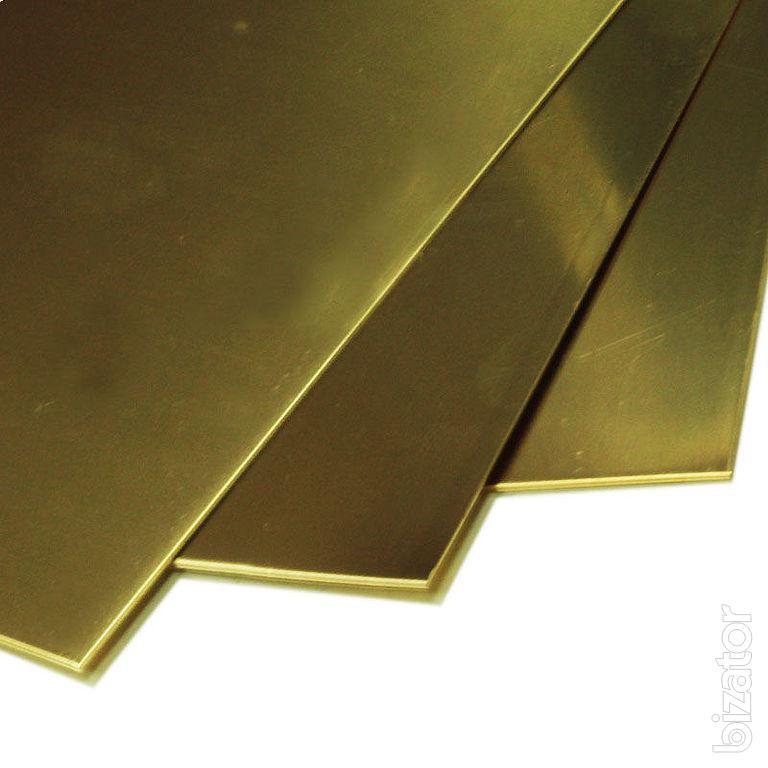 Латунь лист Л63ПТ 1,5х600х1500