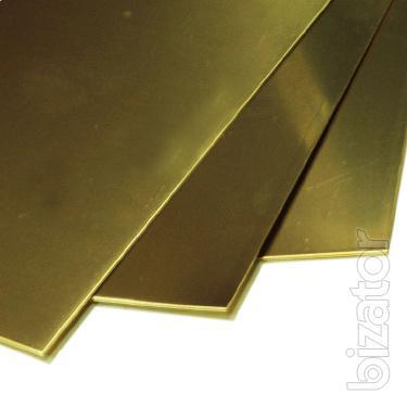 Латунь лист Л63ПТ 2,5х600х1500