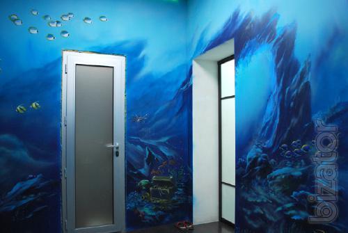 Художественная роспись стен, масляная живопись