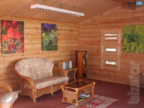 Блок хаус для внутрішніх та зовнішніх робіт робіт
