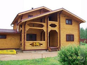 "Log cabins homes, baths of IC ""Jewdom"" (,Tver)"