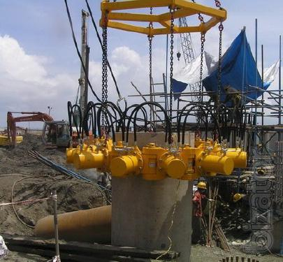 Equipment for various events round piles TAETS