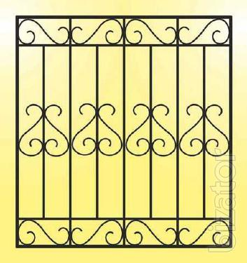 Grilles, gates, stairs, railings, canopies, awnings