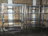 Sell the used racks made of stainless steel for cafes, canteens