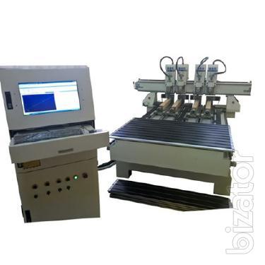 CNC-1325-4R Фрезерный станок с ЧПУ четыре шпинделя и четыре поворотные оси