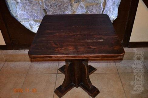 Sale wooden tables made from natural pine bar, pub, restaurant