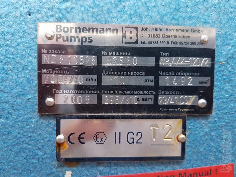 Горизонтальный винтовой насос Bornemann pumps модель W8.4ZKL