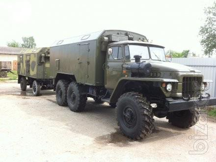 Ural 4320 and 375 , chassis , Board , crane , truck complete with storage