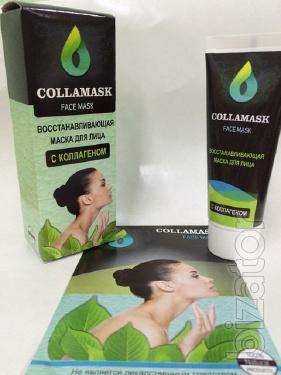 Купить Восстанавливающая маска для лица с коллагеном Collamask (Колламаск) оптом от 10 шт