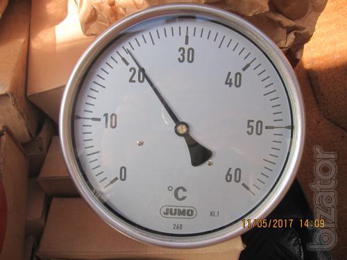 Стрелочный биметаллический термометр JUMO тип 608001/1863-810-891-12-104-46-46-100/000