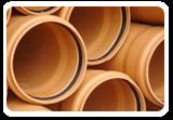 Пластиковые трубы ПВХ для наружной канализации