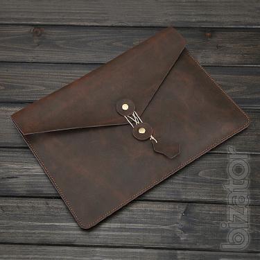 Папка-конверт натуральная кожа