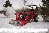 Навесной снегоочиститель VST6618F на установку FLD-20D  для мини-трактора