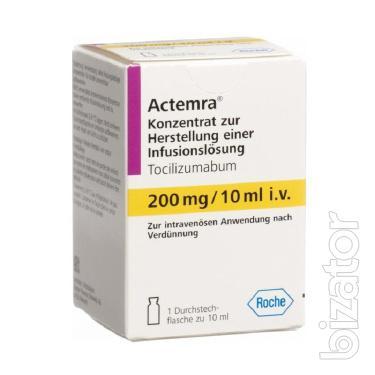 Актемра конц. для р-ра для инфузий 20 мг/мл (200 мг/10 мл) 10 мл флакон 1шт