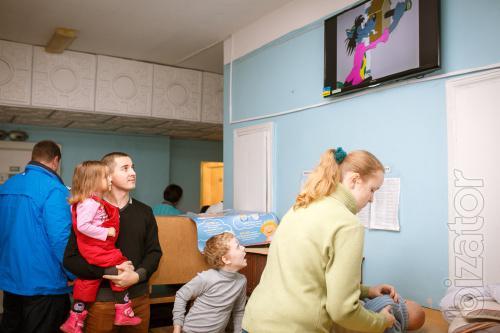 Видеореклама в детских поликлиниках