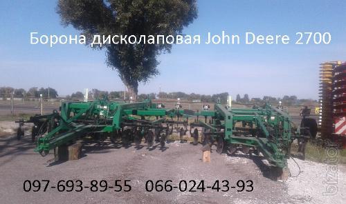 Дисколаповая борона  John Deere 2700