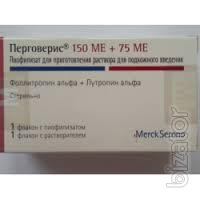 Продам Перговерис пор.д/п р-ра 150МЕ+75МЕ +р-ль 1мл N1, Merck Serono International (Швейцария)