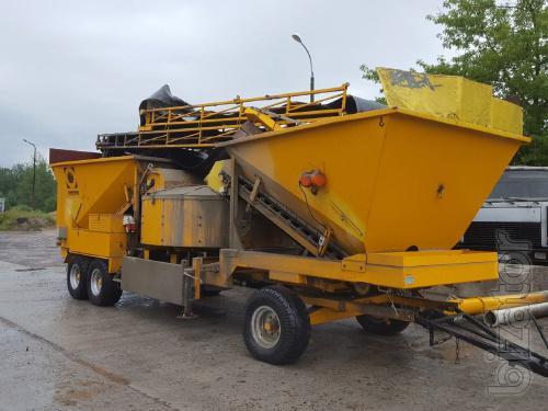 Mobile concrete mixing plant Fibointercon