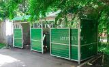 Укрытие для контейнерной площадки с раздвижными дверями