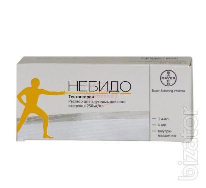 Продам Небидо раствор для инъекций 250мг/мл 4мл №1 ампула, Bayer Schering Pharma AG