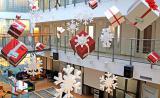 Новогоднее оформление торговых центров, украшение фасадов .