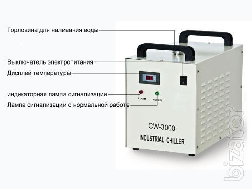 Маломощный лазерный резак охлаждается чиллером CW-3000 S&A.