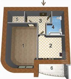 1-но комнатная квартира 42,95 кв.м в ЖК Чайка