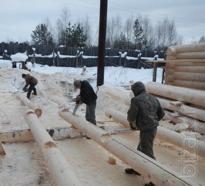 Дома и бани из оцилиндрованного и рубленного бревна (Сибирский лес) г.Братск