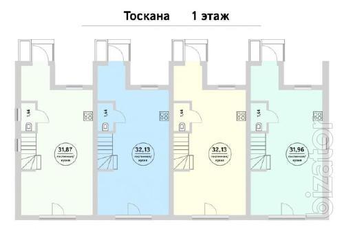 Таунхаус «Тоскана» (под отделку) с. Новые Петровцы (КГ Holland Park)
