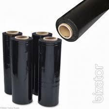 Черная стретч-пленка первичка( 55 см 20 мкм 3,2 кг 320 м )