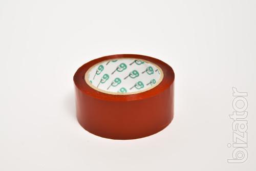 Красный  скотч упаковочный