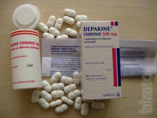 Депакін Хроно 500 мг Depakine Chrono 500 mg таблетки №30