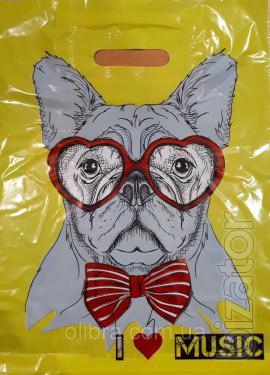Пакет детский Собаки 30х40 см, 50 шт, 30 мкм
