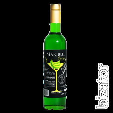 Сироп Зелёный банан ТМ Maribell 0.7 L