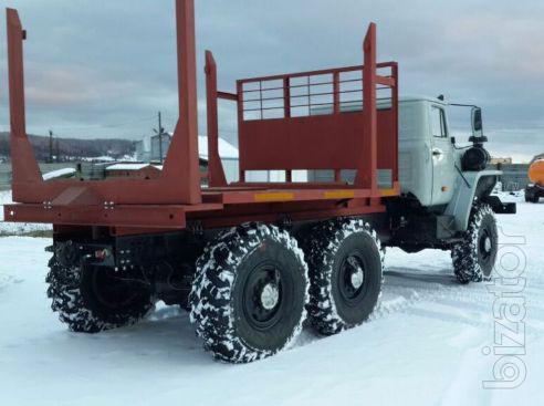 Лесовоз Урал 43204 с новой площадкой на стандартном шасси без пробега