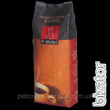 Кава натуральна, обсмажена, в зернах St Michel Crema 1кг