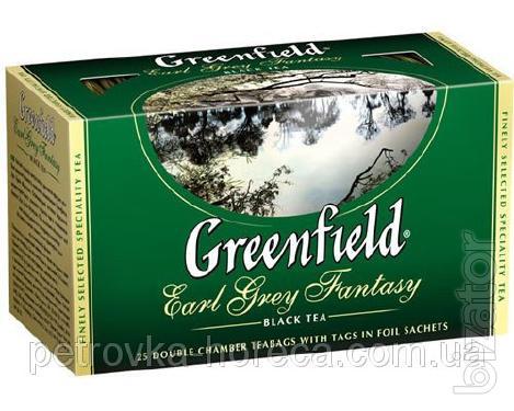 """Чай пакетированный черный Greenfield """"Earl Grey Fantasy"""" 25шт Бергамот"""