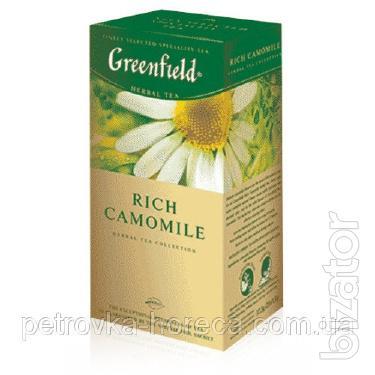 "Чай пакетированный Greenfield ""Rich Camomile"" 25шт Ромашка крупная"