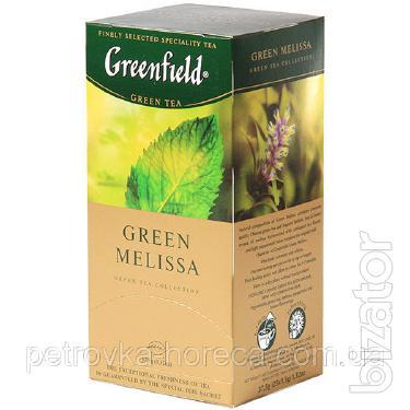 """Чай пакетированный зеленый Greenfield """"Green Melissa"""" 25шт Мелиса"""