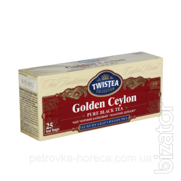 """Чай пакетированный черный Twistea 25шт """"Золотой Цейлон"""""""