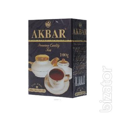 Чай в пакетиках Akbar Черный Бергамот 100шт