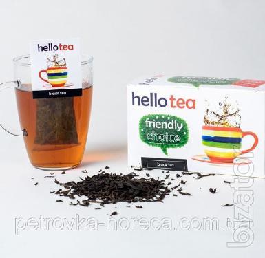Чай Hello tea Black Earl grey 20шт Бергамот