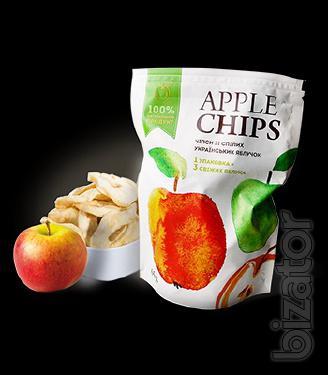 Чипсы яблочные Sergio 55г