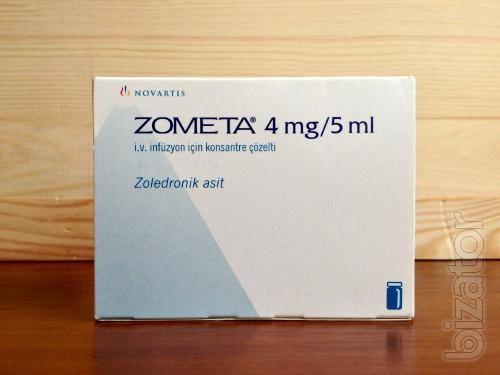 Зомета (Zometa) 5мл(4мг) фл. №1, Novartis (Швейцария)