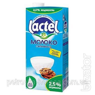 Молоко Lactel 1л, 2,5%