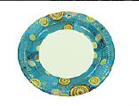 Тарелка бумажная ХТ23 100шт 20см (8/800) Цветная